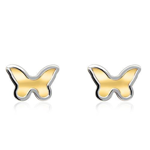 Złote kolczyki - Motyle pr.585