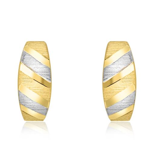 Złote kolczyki - Paski pr.585