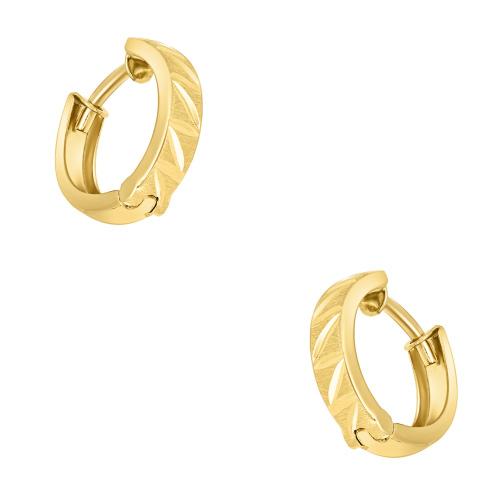 Złote kolczyki - Zdobione Kółka pr.585