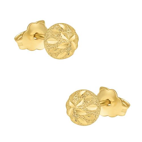 Złote kolczyki - Ozdobne Półkule pr.585