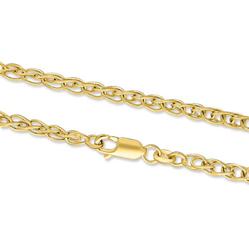 Złoty łańcuszek - Książę Walii 45cm pr.585