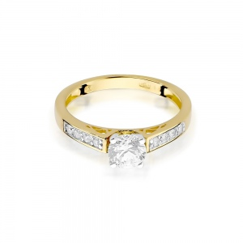 Pierścionek zaręczynowy z brylantami 0,42ct pr.585