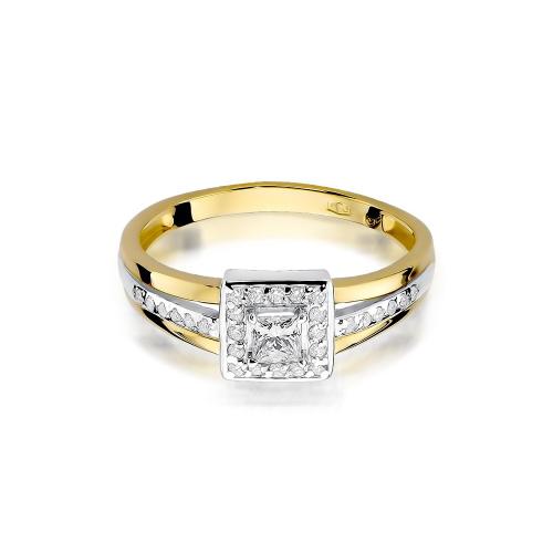 Pierścionek zaręczynowy z brylantami 0,349ct pr.585