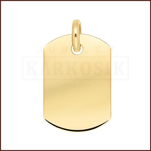 Złota Zawieszka Blaszka pr.585