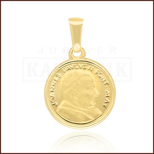 Złota Zawieszka Medalik - Jan Paweł II pr.585