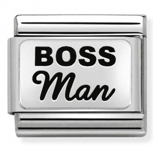 Nomination - Link 925 Silver 'BOSS MAN' 330109/34