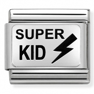 Nomination - Link 925 Silver 'SUPER KID With Thunderbolt' 330208/33