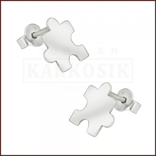 Srebrne kolczyki - Puzzle pr.925