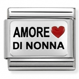 Nomination - Link 925 Silver 'AMORE DI NONNA With Heart' 330208/37