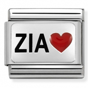 Nomination - Link 925 Silver 'ZIA and Red Heart' 330208/38