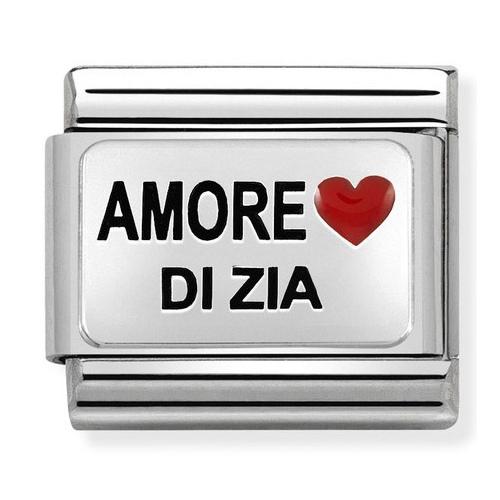 Nomination - Link 925 Silver 'AMORE DI ZIA' 330208/39
