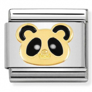 Nomination - Link 18K Gold 'Panda Face' 030248/18