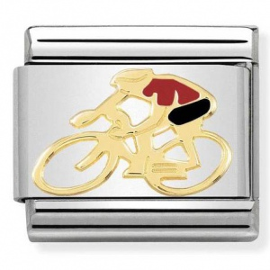 Nomination - Link 18K Gold 'Red Cyclist' 030259/14