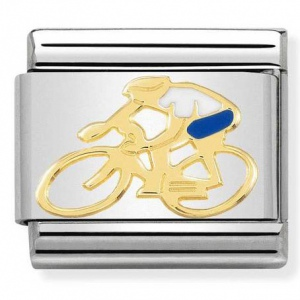 Nomination - Link 18K Gold 'White Shirt Cyclist' 030259/15