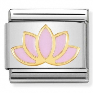 Nomination - Link 18K Gold 'Lotus Flower' 030278/17