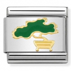 Nomination - Link 18K Gold 'Bonsai' 030278/18