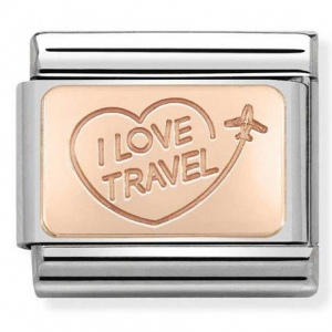 Nomination - Link 9K Rose Gold 'I LOVE TRAVEL' 430110/02
