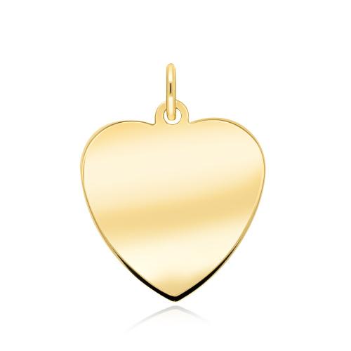 Złota zawieszka pod grawer - Serce pr.585