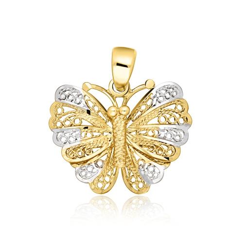 Złota zawieszka - Motyl pr.585