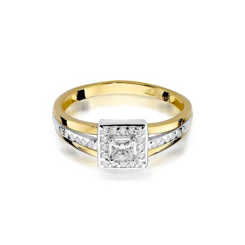 Pierścionek zaręczynowy z brylantami 0,40ct pr.585