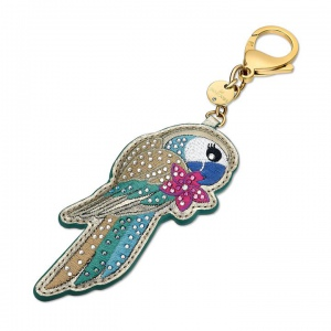 Brelok Swarovski - Tropical Parrot Bag Charm, Dark Multi-Colored 5520615
