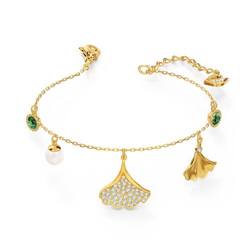 Bransoletka Swarovski -  Stunning Ginko, Gold 5518173