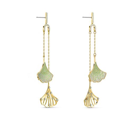 Kolczyki Swarovski - Stunning Ginko, Gold 5527080