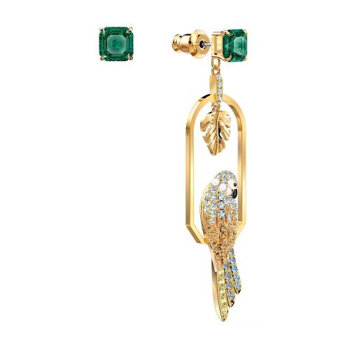 Kolczyki Swarovski - Tropical Parrot, Gold 5519255