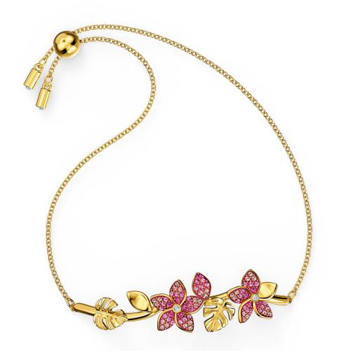 Bransoletka Swarovski - Tropical Flower Bangle, Gold 5521058