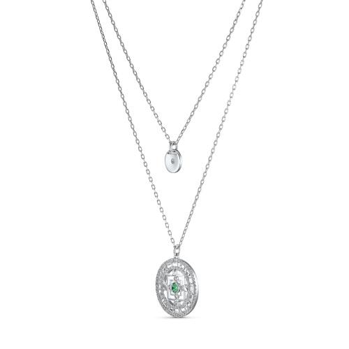Naszyjnik Swarovski - Symbolic Mandala, Silver 5541987