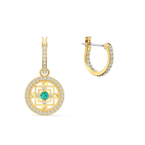 Kolczyki Swarovski - Symbolic Mandala Hoop, Gold 5521446
