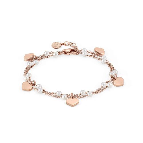 Bransoletka Nomination Mon Amour - 'Heart whit White Gemstones' 027246/022
