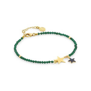 Bransoletka Nomination Antibes - 'Stars with Green Crystals' 148302/016