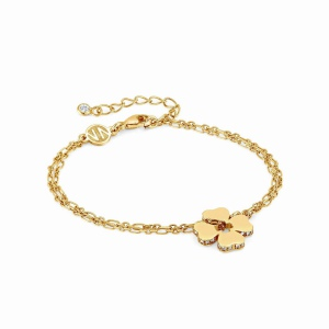 Bransoletka Nomination Essentials - 'Gold Four-Leaf Clover' 148200/003