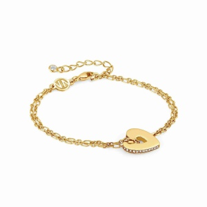 Bransoletka Nomination Essentials - 'Gold Heart' 148200/006