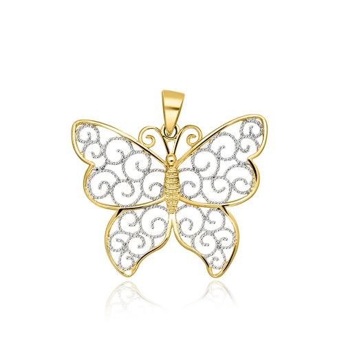 Złota zawieszka - Motyl pr.333