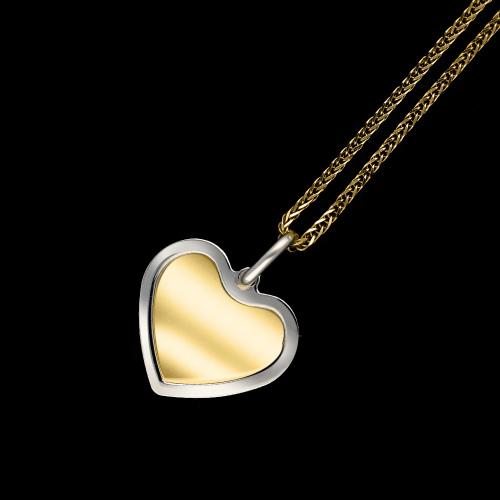 Złota zawieszka - Serce, pod grawer pr.333