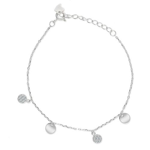 Srebrna bransoletka celebrytka - Monety pr.925