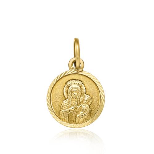 Złota zawieszka - Medalik pr.333