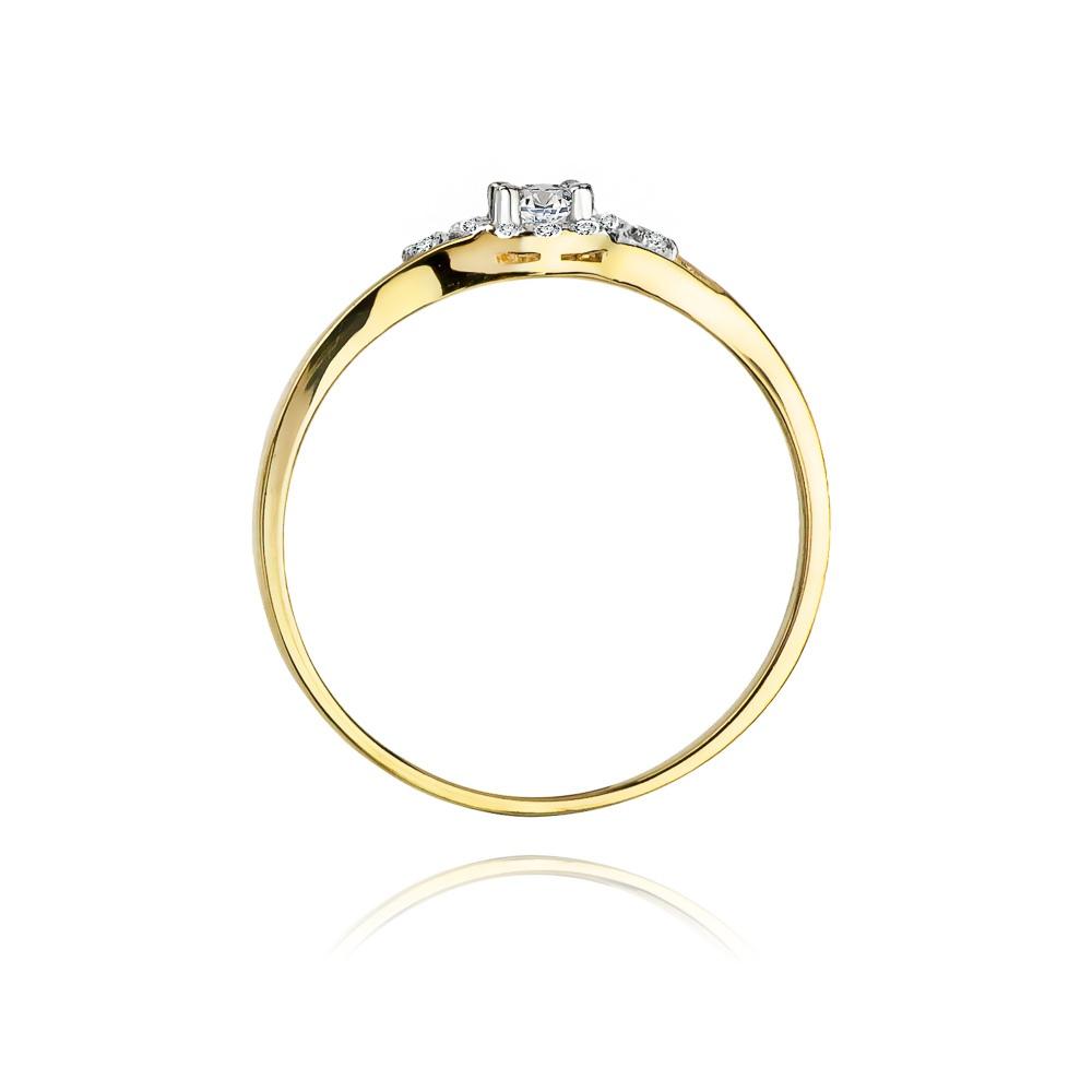 Pierścionek zaręczynowy 585 złoto z brylantami brylantami 0,17ct