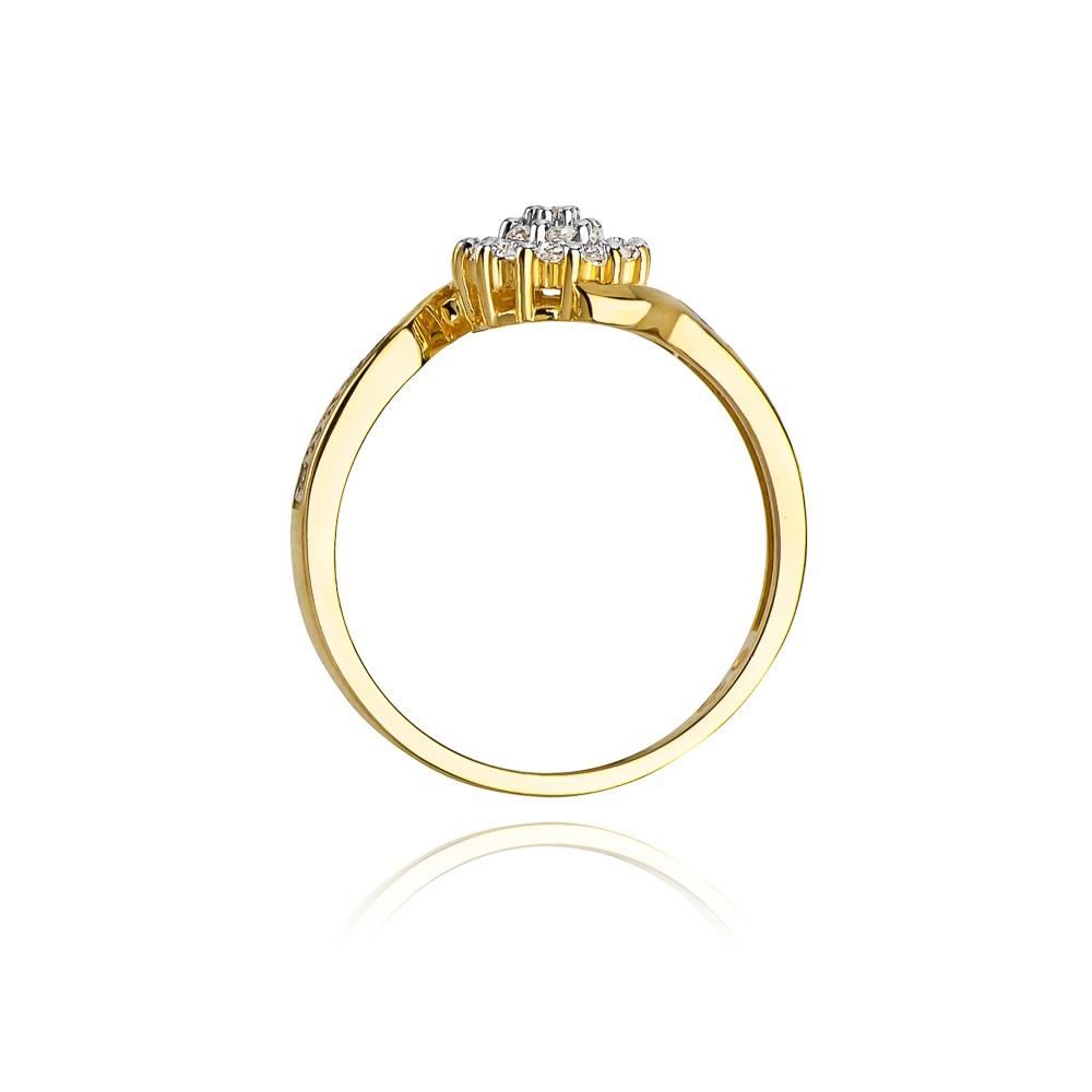 Pierścionek zaręczynowy 585 złoto z brylantami 0,26ct