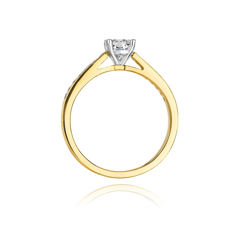 Pierścionek zaręczynowy 585 złoto z brylantami 0,62ct
