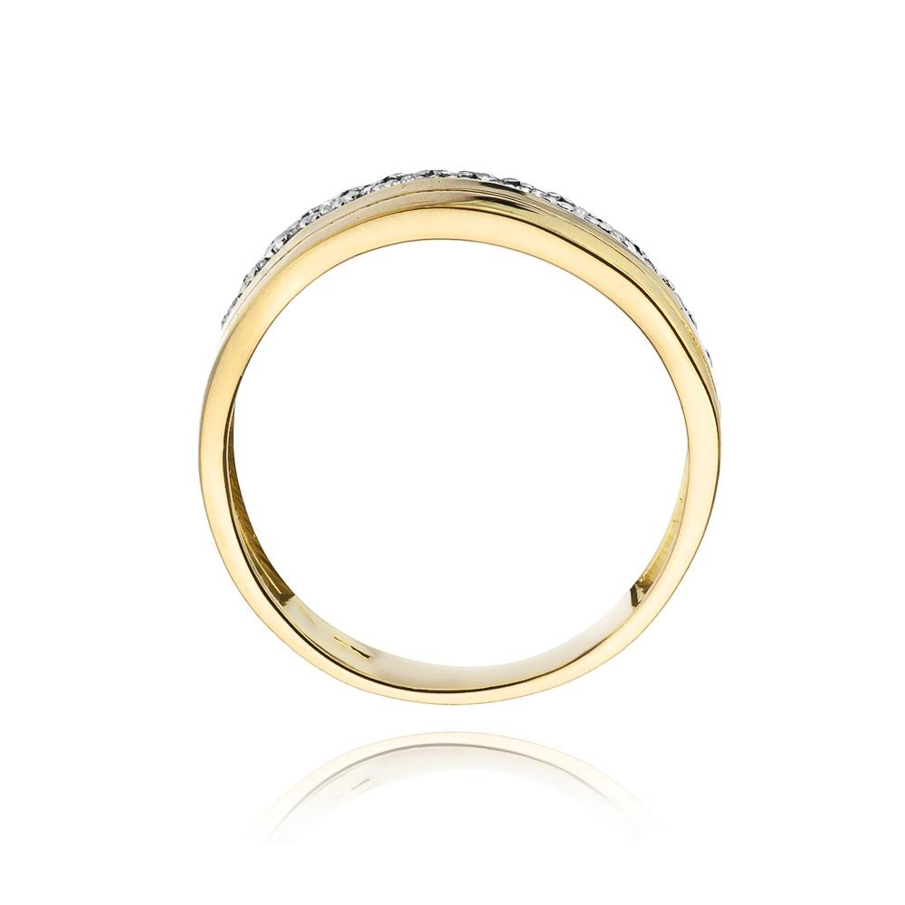 Pierścionek zaręczynowy 585 złoto z brylantami 0,09ct