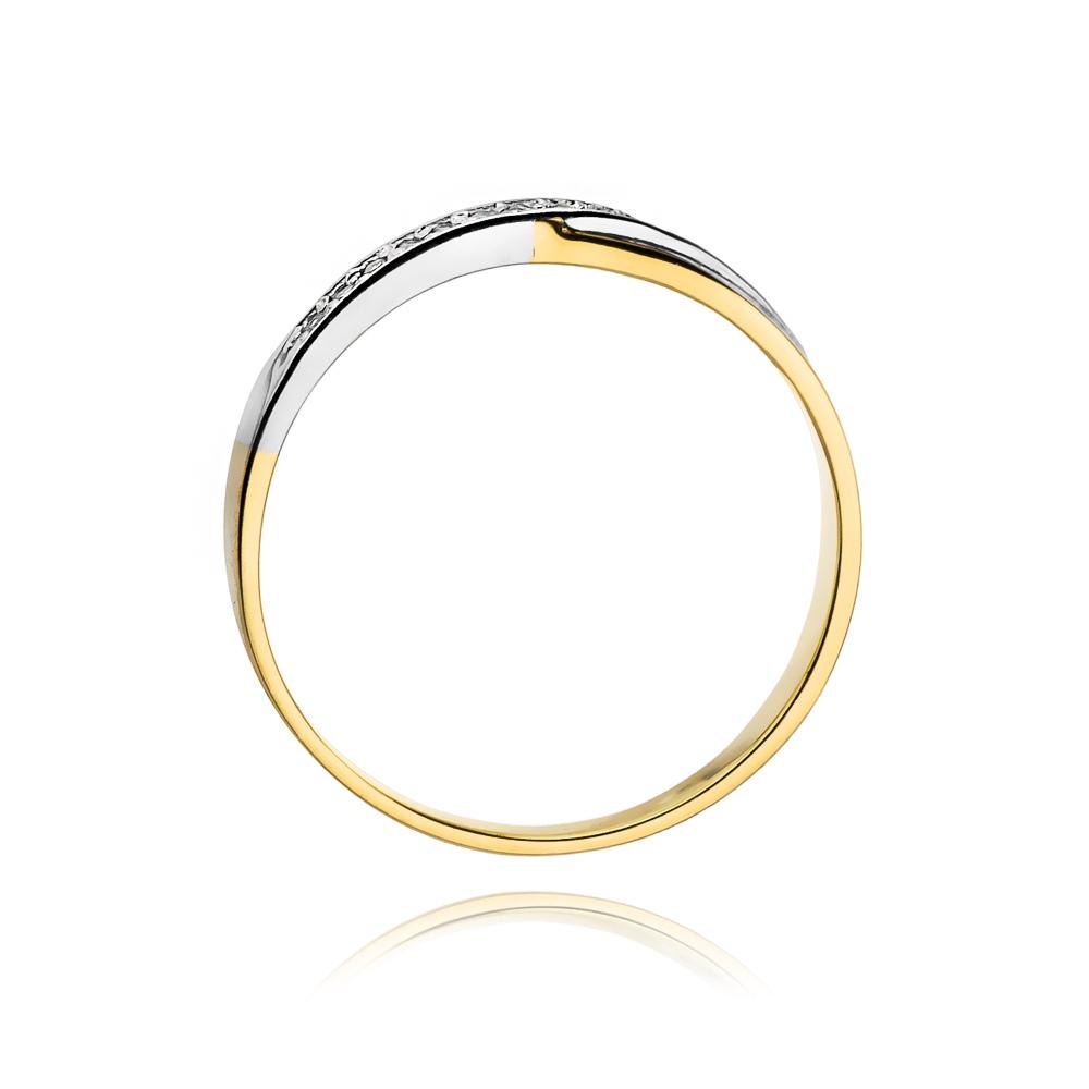 Pierścionek zaręczynowy 585 złoto z brylantami 0,07ct