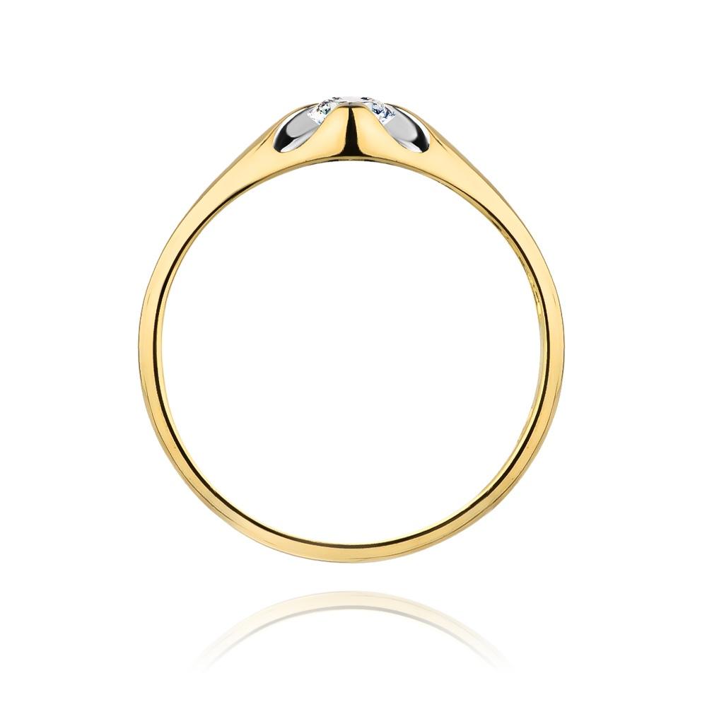Pierścionek zaręczynowy 585 złoto z brylantam 0,10ct