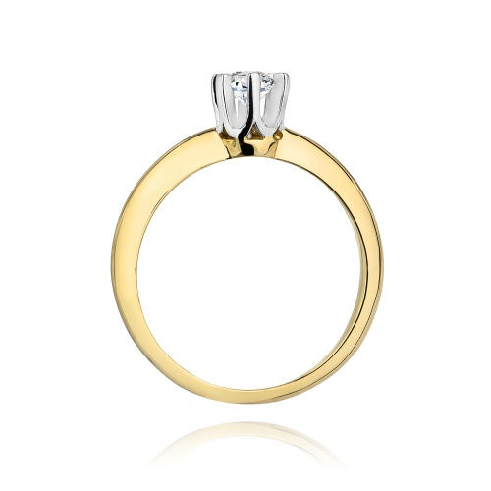 Pierścionek zaręczynowy 585 złoto z brylantem 0,30ct
