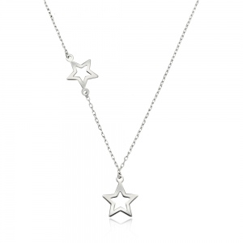 Srebrny naszyjnik celebrytka - Gwiazdy pr.925
