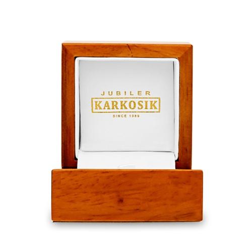 Eleganckie pudełko na pierścionek - Drewniane