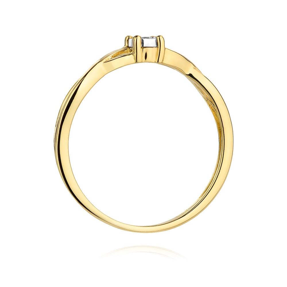 Pierścionek zaręczynowy z brylantem 0,03ct pr.585