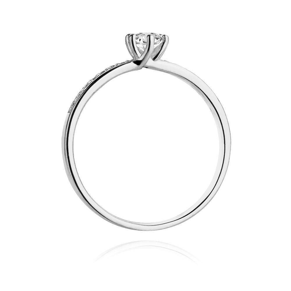 Pierścionek zaręczynowy z brylantami 0,37ct pr.585
